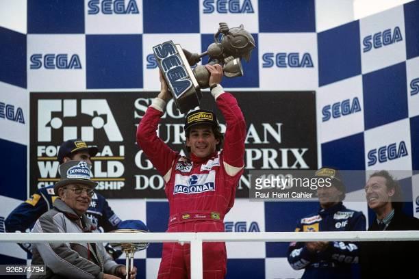 Ayrton Senna, McLaren-Ford MP4/8, Grand Prix of Europe, Donington, England, 11 April 1993.