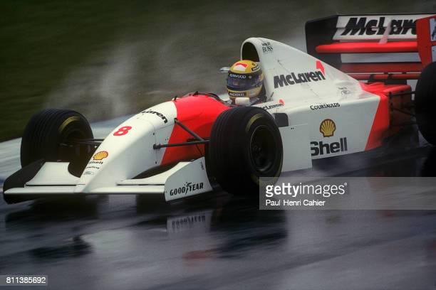 Ayrton Senna McLarenFord MP4/8 Grand Prix of Europe Donington Park 11 April 1993