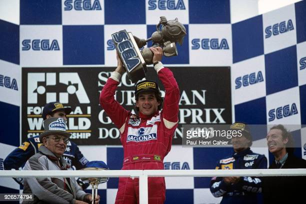 Ayrton Senna McLarenFord MP4/8 Grand Prix of Great Britain Silverstone Circuit 11 July 1993