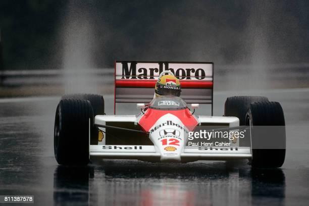 Ayrton Senna, McLaren-Honda MP4/4, Grand Prix of Hungary, Hungaroring, 07 August 1988.