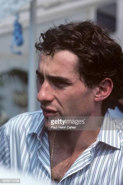 Ayrton Senna McLarenHonda MP4/5 Grand Prix of Hungary Hungaroring 13 August 1989