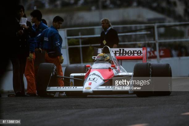 Ayrton Senna, McLaren-Honda MP4/5, Grand Prix of Japan, Suzuka, 22 October 1989.