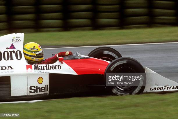 Ayrton Senna McLarenHonda MP4/5B Grand Prix of Canada Circuit Gilles Villeneuve 10 June 1990 Pole position and victory for Ayrton Senna in the 1990...