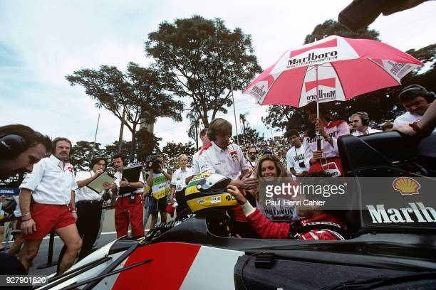 Ayrton Senna, McLaren-Honda MP4/6, Grand Prix of Brazil, Autodromo Jose Carlos Pace, Interlagos, Sao Paolo, 24 March 1991. Ayrton Senna on pole...