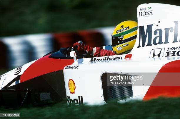Ayrton Senna McLarenHonda MP4/6 Grand Prix of Hungary Hungaroring 11 August 1991