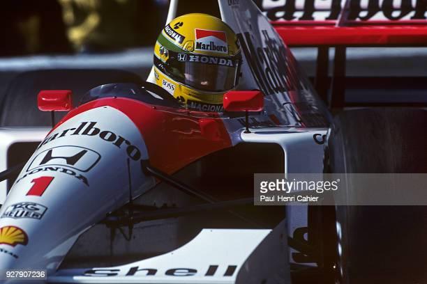 Ayrton Senna McLarenHonda MP4/6 Grand Prix of Monaco Circuit de Monaco 12 May 1991 Ayrton Senna in the Loews hairpin Monaco Grand Prix 1991 where he...