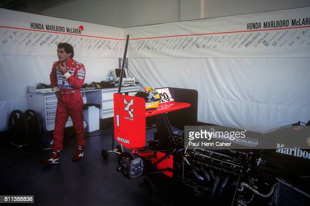 Ayrton Senna, McLaren-Honda MP4/7A, Grand Prix of Brazil, Interlagos, 05 April 1992.