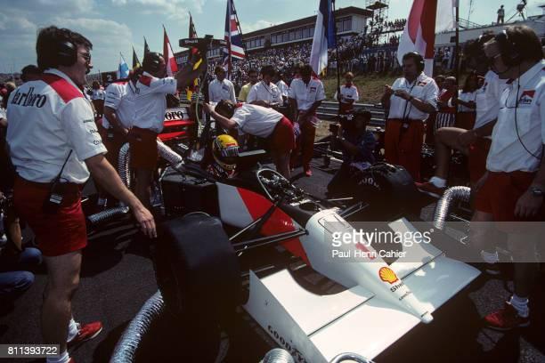 Ayrton Senna, McLaren-Honda MP4/7A, Grand Prix of Hungary, Hungaroring, 16 August 1992.