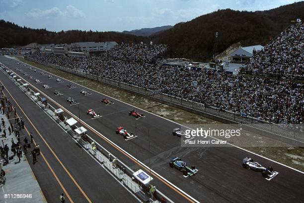 Ayrton Senna Michael Schumacher WilliamsRenault FW16 BenettonFord B194 Grand Prix of Pacific TI Circuit Aida 17 April 1994