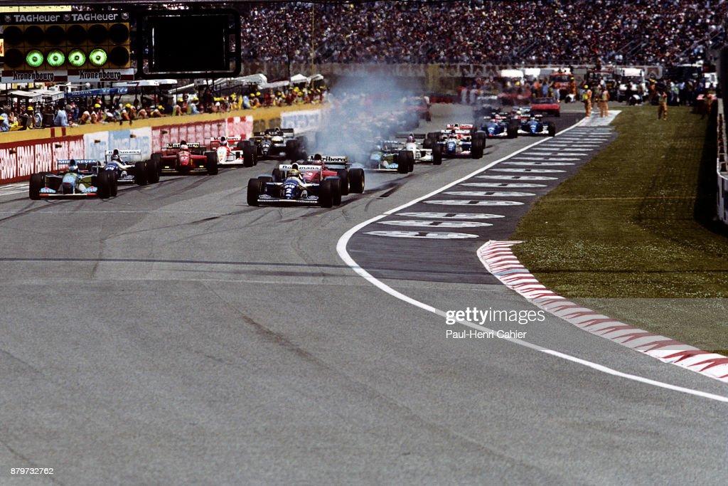 Ayrton Senna, Michael Schumacher, Grand Prix Of San Marino : News Photo