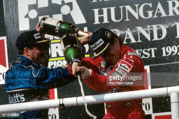Ayrton Senna, Nigel Mansell, Grand Prix of Hungary, Hungaroring, 16 August 1992.