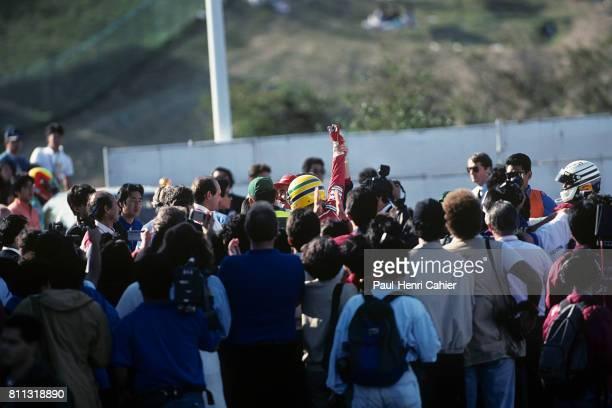 Ayrton Senna Nigel Mansell Grand Prix of Japan Suzuka 20 October 1991