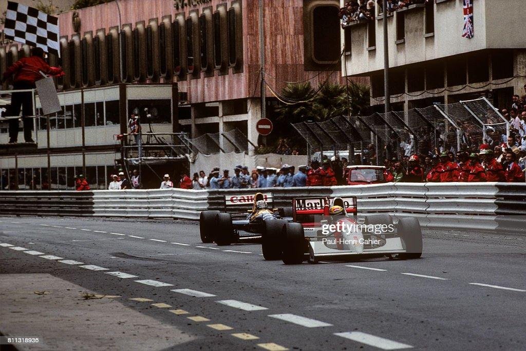 Ayrton Senna, Nigel Mansell, Grand Prix Of Monaco : News Photo