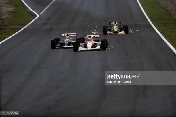 Ayrton Senna Nigel Mansell Michael Schumacher McLarenHonda MP4/6 Grand Prix of Spain Circuit de BarcelonaCatalunya 29 September 1991
