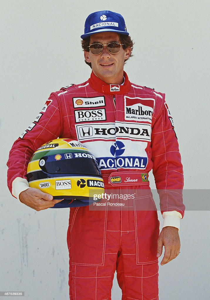 Ayrton Senna of Brazil and driver of the #1 Honda Marlboro McLaren McLaren MP4/6B Honda V12 poses for a portrait during practice for the Yellow Pages South African Grand Prix on 28th February 1992 at the Kyalami Grand Prix Circuit in Kyalami, South Africa.