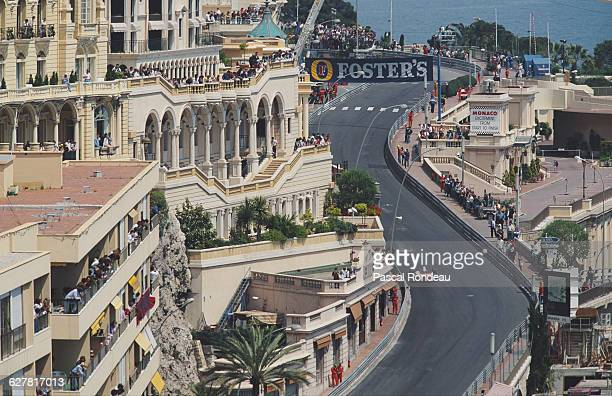 Ayrton Senna of Brazil drives the Honda Marlboro McLaren McLaren MP4/6 Honda RA121E V12 during practice for the Grand Prix of Monaco on 11 May 1991...