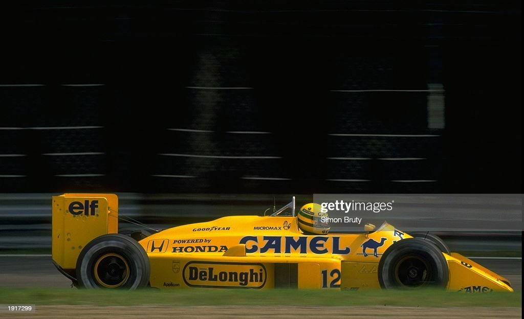 Ayrton Senna of Brazil in action in his Lotus Honda during the Italian Grand Prix at the Monza circuit in Italy. Senna finished in second place. \ Mandatory Credit: Simon Bruty/Allsport