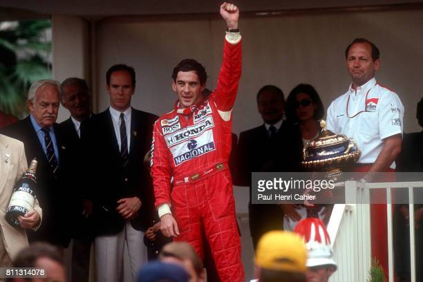 Ayrton Senna Prince Rainier Prince Albert Grand Prix of Monaco Monaco 31 May 1992