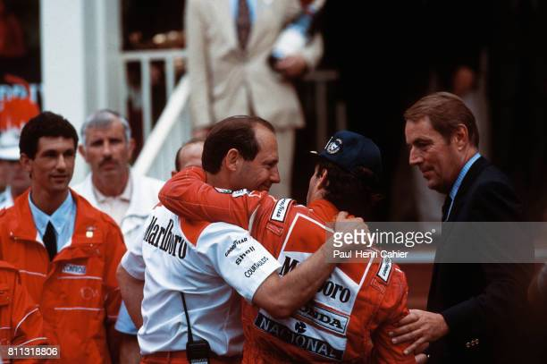 Ayrton Senna Ron Dennis Grand Prix of Monaco Monaco 31 May 1992