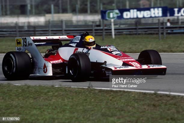 Ayrton Senna, Toleman-Hart TG183B, Grand Prix of Brazil, Jacarepagua, 25 March 1984.