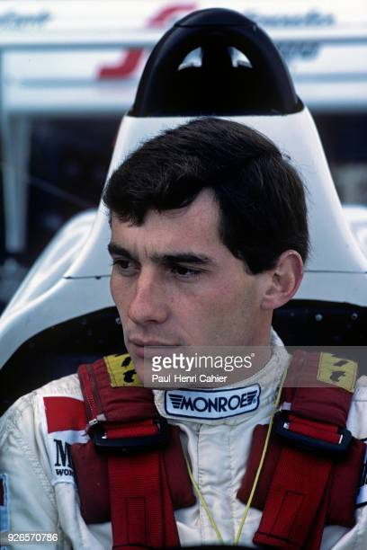 Ayrton Senna, Toleman-Hart TG184, Grand Prix of France, Dijon-Prenois, 20 May 1984.
