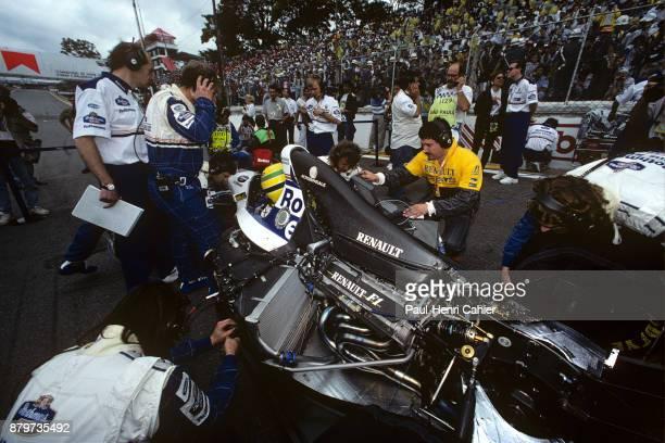 Ayrton Senna WilliamsRenault FW16 Grand Prix of Brazil Autodromo Jose Carlos Pace Interlagos Sao Paolo 27 March 1994 Ayrton Senna on the starting...