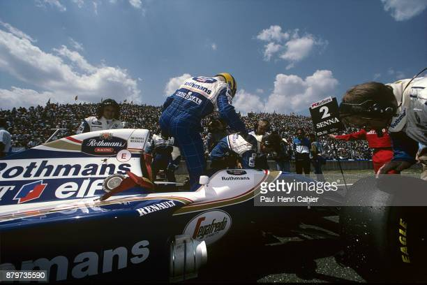 Ayrton Senna WilliamsRenault FW16 Grand Prix of Pacific Okayama International Circuit 17 April 1994 Ayrton Senna getting out of his WilliamsRenault...