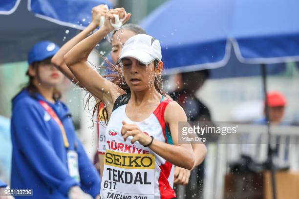 Ayse Tekdal of Turkey in action during Women's 10 kilometres Race Walk of IAAF World Race Walking Team Championships Taicang 2018 on May 6 2018 in...