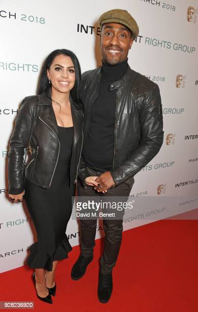 Ayshen Kemal and Simon Webbe attend the launch of InterTalent Rights Group at BAFTA on March 6 2018 in London England