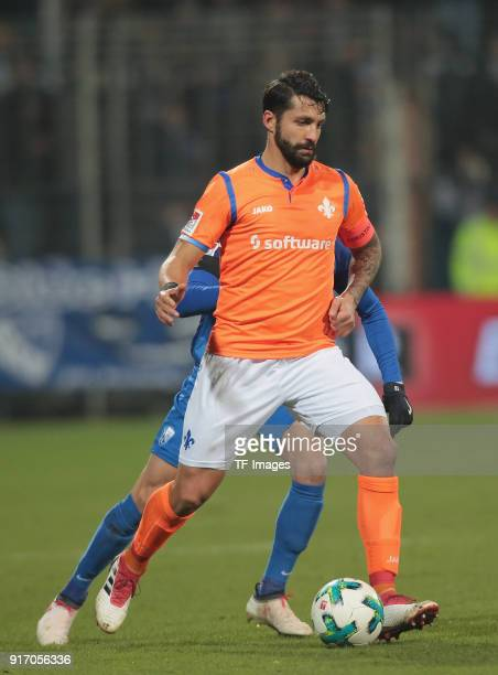 Aytac Sulu of Darmstadt controls the ball during the Second Bundesliga match between VfL Bochum 1848 and SV Darmstadt 98 at Vonovia Ruhrstadion on...