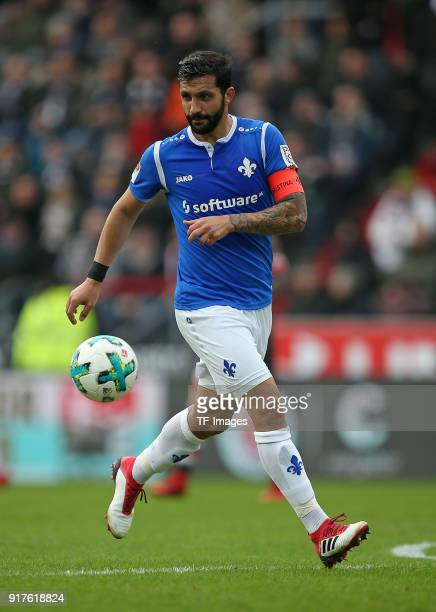 Aytac Sulu of Darmstadt controls the ball during the Second Bundesliga match between FC St Pauli and SV Darmstadt 98 at Millerntor Stadium on January...