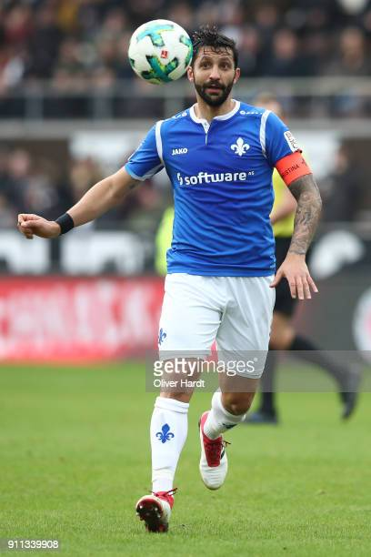 Aytac Sulu of Darmstadt in action during the Second Bundesliga match between FC St Pauli and SV Darmstadt 98 at Millerntor Stadium on January 28 2018...