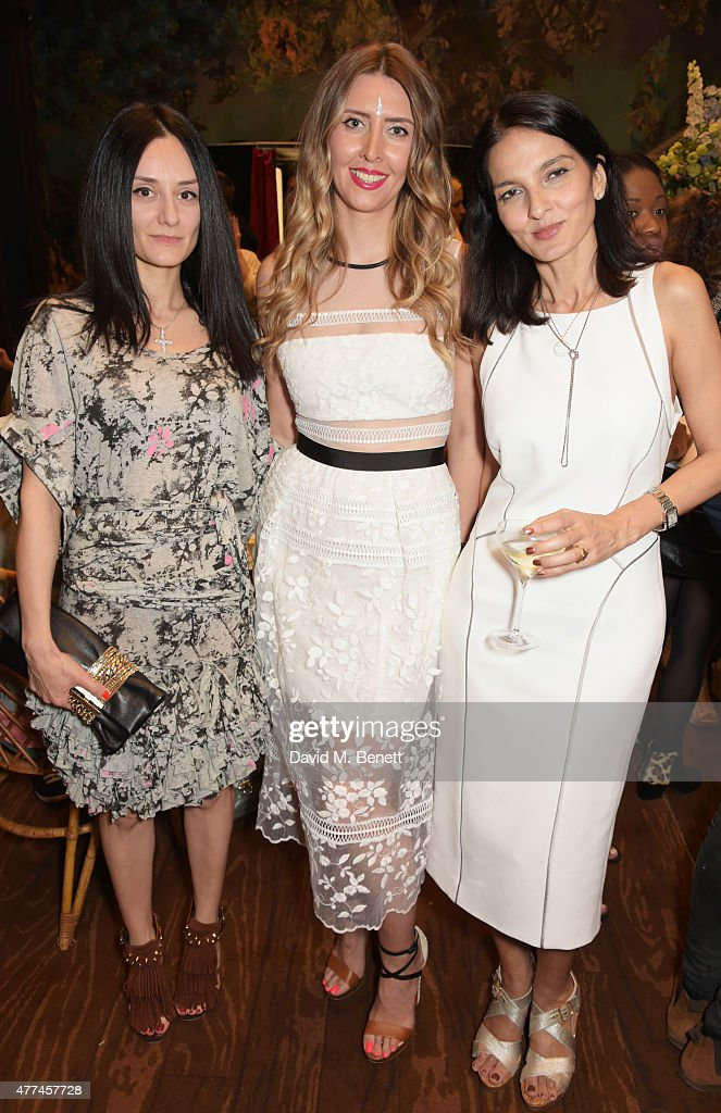 Aytan Eldarova, Anna Grace-Davidson and Yasmin Mills attend the launch of natural health, beauty and wellbeing website Grace Guru, hosted by Anna Grace-Davidson with the support of Jo Wood Organics, at Sketch on June 17, 2015 in London, England.