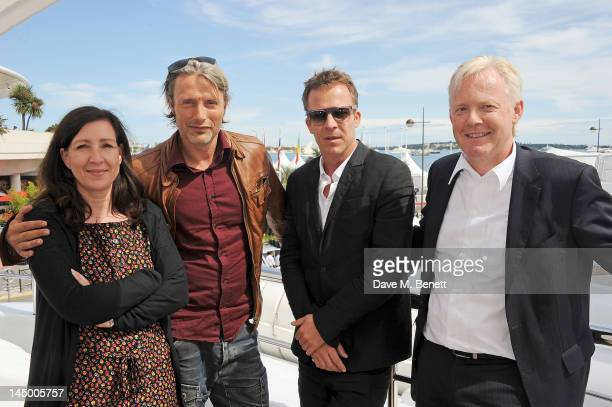 Ayten Pekerman actor Mads Mikkelsen director Asger Leth and Deutsche Telekom Vice President of International Marketing Communications Sponsoring...