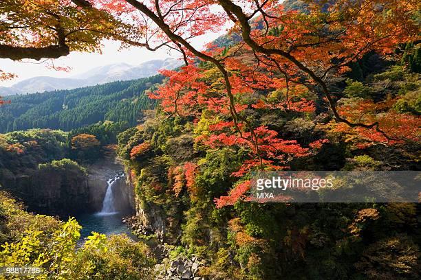 ayugaeri falls, minamiaso, kumamoto, japan - minamiaso kumamoto stock pictures, royalty-free photos & images