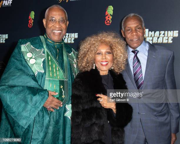 Ayuko Babu Ja'Net DuBois and Danny Glover attend the 27th Annual Pan African Film Arts Festival Opening Red Carpet at Cinemark Los Angeles Baldwin...