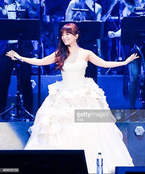 Ayumi Hamasaki attends JJ Lin's live concert at Taipei Arena on February 15 2015 in Taipei Taiwan of China