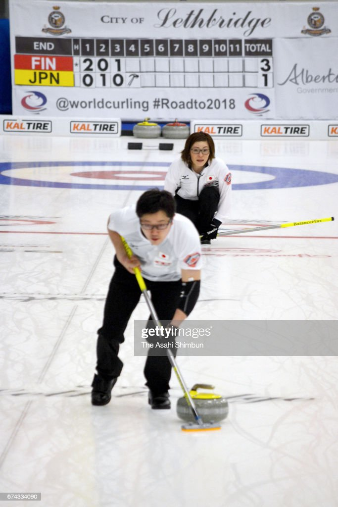 Ayumi Ogasawara and Shinya Abe of Japan comepte in the Group