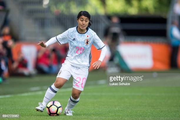 Ayumi Oya of Japan in action during the Women's International Friendly match between Netherlands and Japan at Rat Verlegh Stadion on June 9 2017 in...