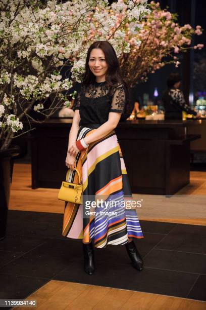 Ayumi Yasuoka attends the Tory Burch Ginza Boutique Opening After Party on April 02 2019 in Tokyo Japan