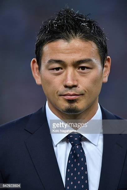 Ayumu Goromaru looks on prior to the international friendly match between Japan v Scotland at Ajinomoto Stadium on June 25 2016 in Tokyo Japan