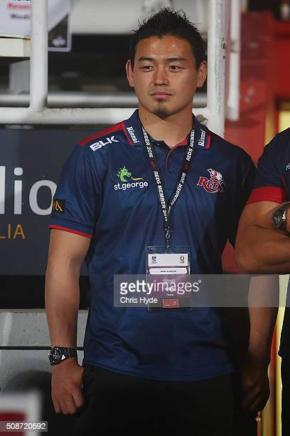 Ayumu Goromaru of the Reds looks on after the Super Rugby preseason match between the Reds and the Crusaders at Ballymore Stadium on February 6 2016...