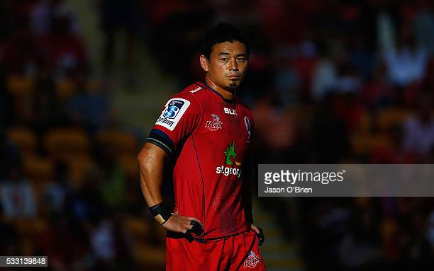 Ayumu Goromaru of the reds looks on during the round 13 Super Rugby match between the Reds and the Sunwolves at Suncorp Stadium on May 21 2016 in...