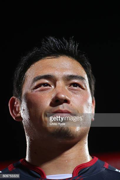 Ayumu Goromaru of the Reds looks on during the Super Rugby PreSeason match between the Reds and the Brumbies at Ballymore Stadium on February 12 2016...