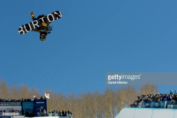Ayumu Hirano of Japan competes during the Men's Halfpipe finals of the 2017 Burton US Open on March 4 2017 in Vail Colorado