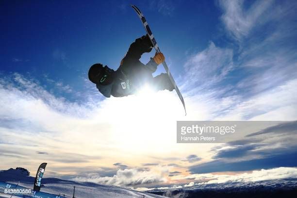 Ayumu Hirano of Japan competes during the Winter Games NZ FIS Men's Snowboard World Cup Halfpipe Finals at Cardrona Alpine Resort on September 8 2017...