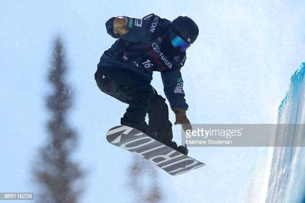 Ayumu Hirano of Japan competes in the FIS World Cup 2018 Men's Snowboard Halfpipe final during the Toyota US Grand Prix on December 9 2017 in Copper...