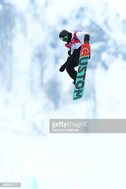 Ayumu Hirano of Japan competes in the Snowboard Men's Halfpipe Qualification Heats on day four of the Sochi 2014 Winter Olympics at Rosa Khutor...