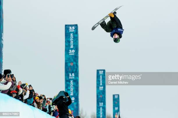Ayumu Hirano of Japan during Men's Halfpipe finals of the 2018 Burton US Open on March 10 2018 in Vail Colorado