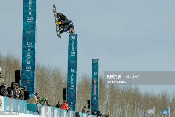 Ayumu Hirano of Japan during Men's Halfpipe semifinals of the 2018 Burton US Open on March 8 2018 in Vail Colorado